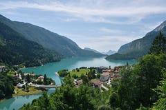 Molveno See, Italien Lizenzfreies Stockfoto
