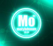 Molybdenum chemical element. stock illustration