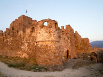 Molyvos城堡  免版税库存图片
