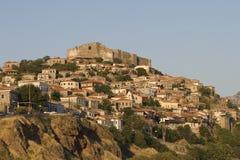 Molyvos - Greece - Lesvos island. In summer stock photography