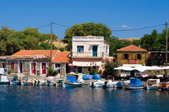 Molyvos harbor stock image