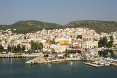 Molyvos of Mithymna, Lesbos, Griekenland Stock Afbeeldingen