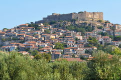 Molyvos-Mithymna town,island Lesbos,Greece. Molyvos historic town,island Lesbos,Greece stock image