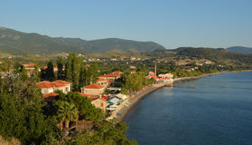 Molyvos seafront northern Lesvos. Greece royalty free stock images