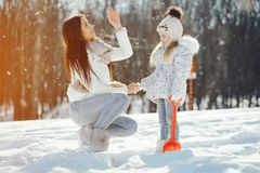 Mom και κόρη στοκ εικόνες