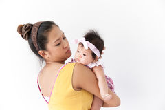 Mom και το μωρό της Στοκ φωτογραφία με δικαίωμα ελεύθερης χρήσης