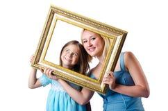 Ευτυχείς mom και κόρη Στοκ Εικόνες