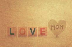 Αγάπη mom Στοκ Εικόνες