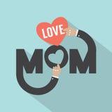 Σχέδιο τυπογραφίας Mom αγάπης Στοκ φωτογραφίες με δικαίωμα ελεύθερης χρήσης