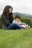 Mom abd baby Royalty Free Stock Photography