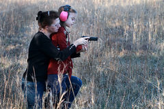 Free Mom And Daughter Shooting Stock Image - 28755771
