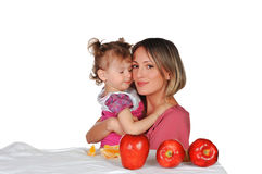 Mom And Her Daughter Royalty Free Stock Image