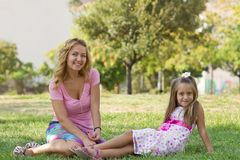 Free Mom And Her Daughter In The Park Royalty Free Stock Photos - 27439968