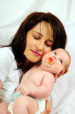 Mom And Little Baby Girl Stock Images
