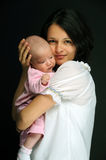 Mom And Little Baby Girl Stock Photography