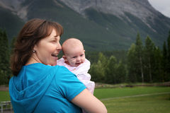 Mom and Baby Royalty Free Stock Photos