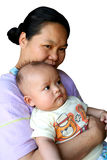 Mom and baby 2. Asian mom and baby stock image