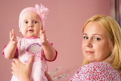 Mom  with baby Royalty Free Stock Images