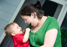 Mom and baby. Royalty Free Stock Photo