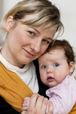 Mom and baby Royalty Free Stock Image