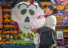 Mom, Baby, Day of the Dead Royalty Free Stock Photo