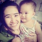 Mom. & Baby happy Stock Photos