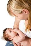 Mom with baby in her arms Royalty Free Stock Images