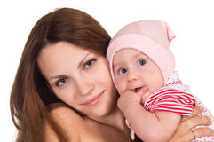 Mom and baby portrait Stock Photos