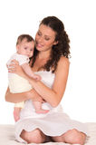 mom and baby portrait Royalty Free Stock Photography