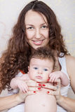 Mom with baby Royalty Free Stock Photos
