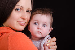 Mom and baby six Royalty Free Stock Photo