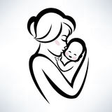 Mom and baby symbol Stock Photography