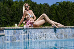 Mom and baby vacation Stock Photo