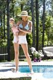 Mom and baby vacation Royalty Free Stock Photo