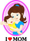 Mom and baby. Vector illustration of mom and baby Stock Photo