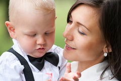 Mom with baby Stock Images