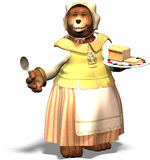 Mom bear. Mama bear invites you Stock Images