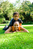 Mom and boy Stock Images