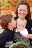 Mom and Boys royalty free stock image