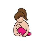 Mom breast feeding Stock Photography