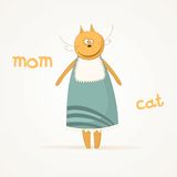 Mom cat Stock Photography