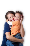 Mom and child. Portrait of happy mother embracing her child Royalty Free Stock Photo