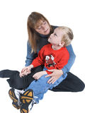 Mom and child. Isolated mother and child Royalty Free Stock Photography