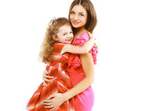 Mom and child, christmas, holiday, birthday, xmas Stock Image