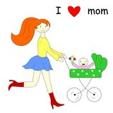 Mom and child Stock Images