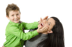 Mom and child playing. Royalty Free Stock Photography
