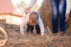 Mom and child preparation for the race. running speed physical education. mala olympic games. games in nature. farm days. giant royalty free stock images