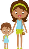 Mom and child vector illustration Royalty Free Stock Photography