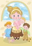 Mom with Children Royalty Free Stock Image