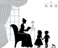 Mom with children Royalty Free Stock Images